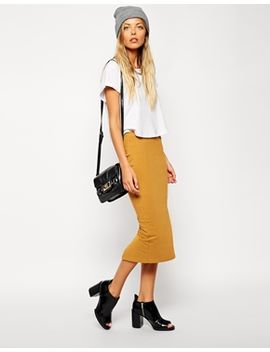asos-midi-pencil-skirt-in-jersey by asos-collection