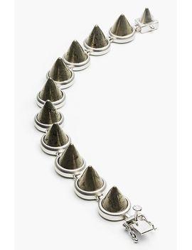 semiprecious-stone-cone-bracelet by eddie-borgo