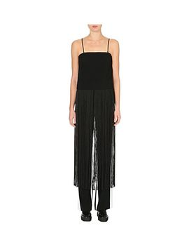 long-fringed-cropped-top by dkny