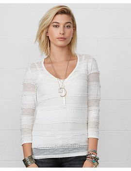stretch-lace-scoopneck-henley by ralph-lauren