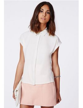 ellessa-short-sleeve-shirt-white by missguided