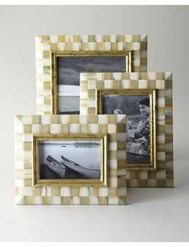 parchment-check-photo-frames by mackenzie-childs