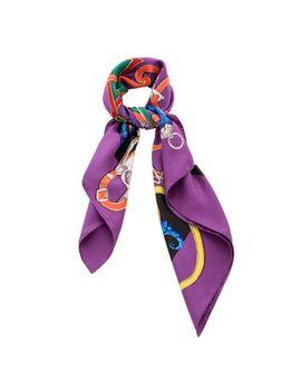 hermes-purple-silk-twill-printed-scarf by hermes