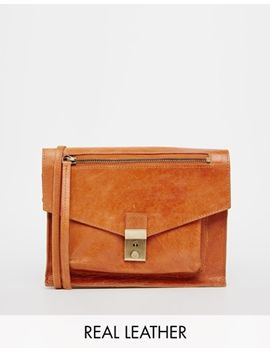asos-leather-vintage-lock-cross-body-bag by asos-collection