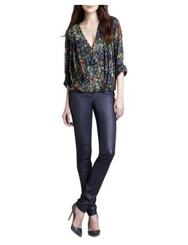 gemma-floral-print-top-&-leather-zip-front-leggings by alice-+-olivia