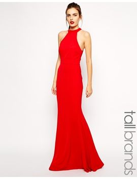 jarlo-tall-halterneck-maxi-dress-with-bow-back by evening-dress