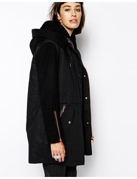 eleven-paris-fobias-hooded-parka-with-rose-gold-fastenings by eleven-paris