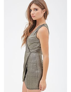 speckled-metallic-surplice-dress by forever-21