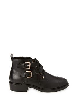 lace-up-buckled-booties by forever-21