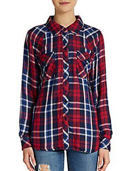 kendra-plaid-flannel-shirt by rails