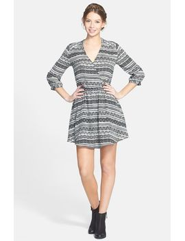 kendal-print-surplice-faux-wrap-dress by lush