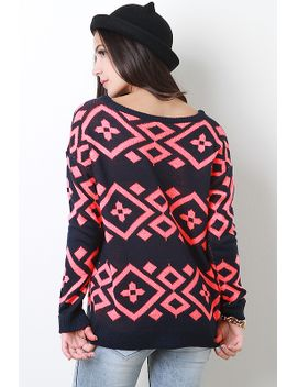 knit-geo-sweater-top by urbanog