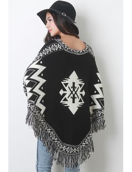 isle-knit-poncho-top by urbanog