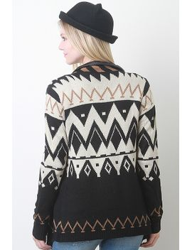 diamond-pattern-knit-cardigan by urbanog
