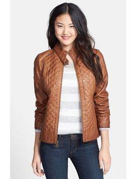 quilted-faux-leather-jacket by guess