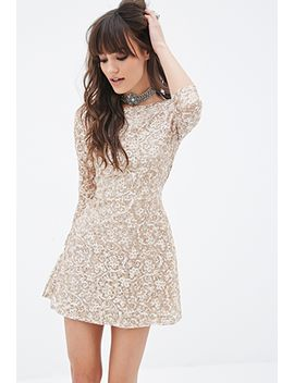 sequined-lace-skater-dress by forever-21