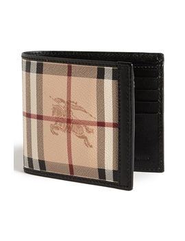haymarket-check-print-billfold-wallet by burberry