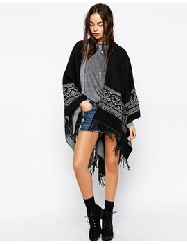 glamorous-knitted-cape-with-embroidery-and-tassel-trim by glamorous