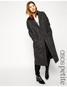 asos-petite-coat-in-maxi-length-boiled-wool by asos-petite