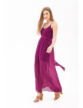 pleated-chiffon-maxi-dress by forever-21