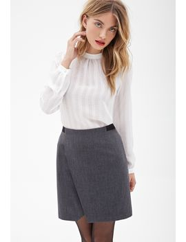 tweed-wrap-skirt by forever-21