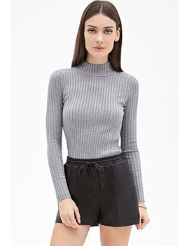 ribbed-high-neck-sweater by forever-21