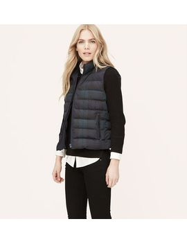 plaid-quilted-puffer-vest by loft