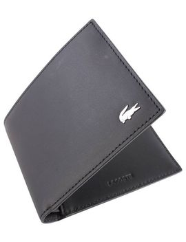 black-small-billfold-wallet-by-lacoste by lacoste