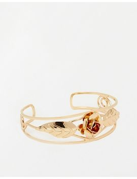 asos-rose-cuff-bracelet by asos-collection