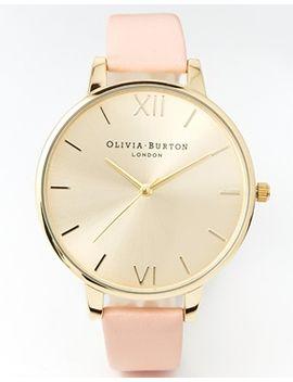 olivia-burton-big-dial-dusky-pink-watch by olivia-burton
