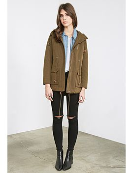 hooded-canvas-utility-jacket by forever-21