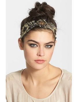 sequin-floral-lace-head-wrap by tasha