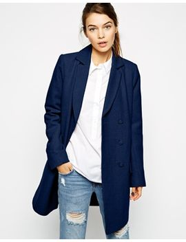 asos-peacoat-longline-with-drop-waist by asos-collection