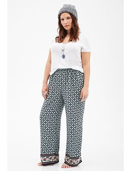 mosaic-print-palazzo-pants by forever-21