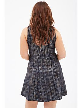 metallic-chevron-patterned-dress by forever-21