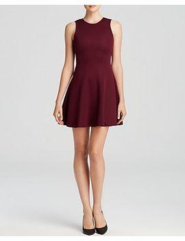 dress---sleeveless-texture-panel-flare by aqua