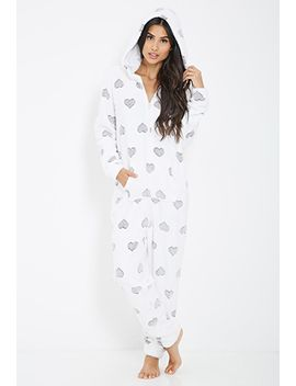 plush-heart-printed-onesie by forever-21