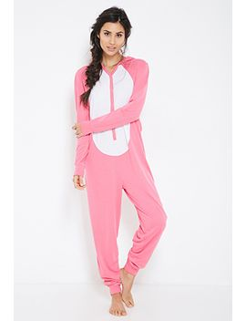 bunny-hood-pajama-onesie by forever-21