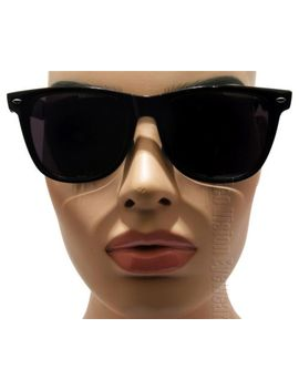 large-retro-sunglasses-super-dark-lenses-wayfarer-black-408sd by ebay-seller