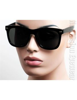 oversized-large-wayfarer-sunglasses-retro-dark-smoke-lenses-black-shiny-k-533 by ebay-seller