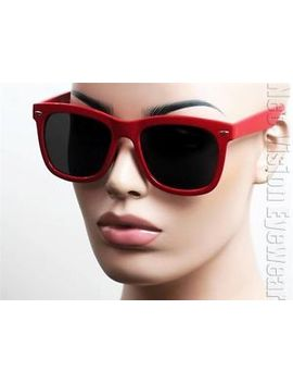 oversized-large-wayfarer-sunglasses-retro-dark-smoke-lenses-cherry-red-k533 by ebay-seller