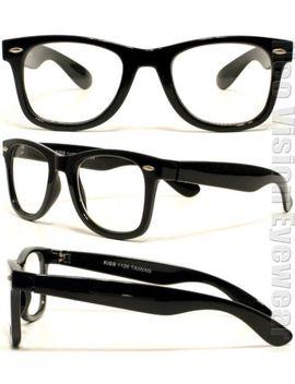 kiss-retro-wayfarer-clear-lenses-reading-glasses-various-lens-colors-k26r by ebay-seller