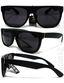 flat-top-retro-wayfarer-sunglasses-super-dark-smoke-lens-black-matte-k279-sd-mt by ebay-seller