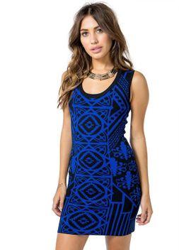 mirror-deco-knit-bodycon-dress by agaci