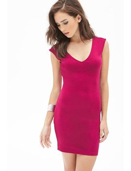 v-cut-bodycon-dress by forever-21