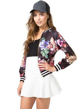 floral-femme-bomber-jacket by agaci