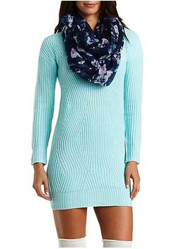 curved-stitch-sweater-dress by charlotte-russe