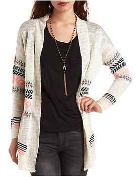open-front-aztec-cardigan by charlotte-russe