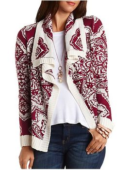 printed-cascade-cardigan by charlotte-russe