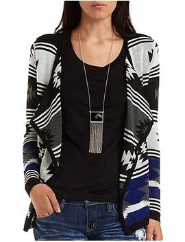 aztec-print-cascade-cardigan by charlotte-russe